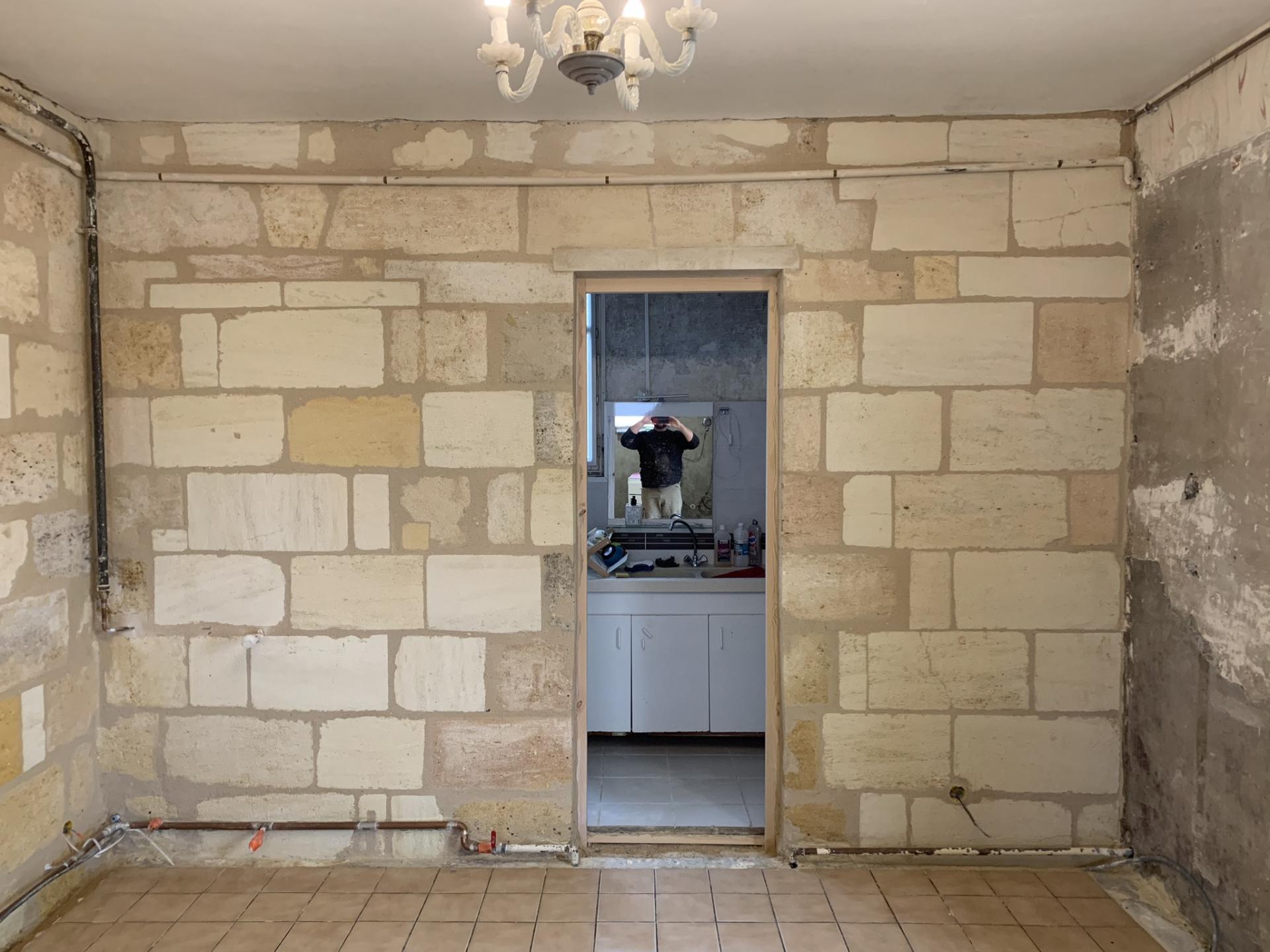 restauration mur intérieur