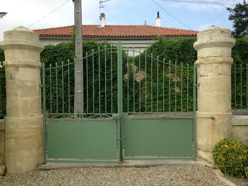 Piliers de portail vue de derrière