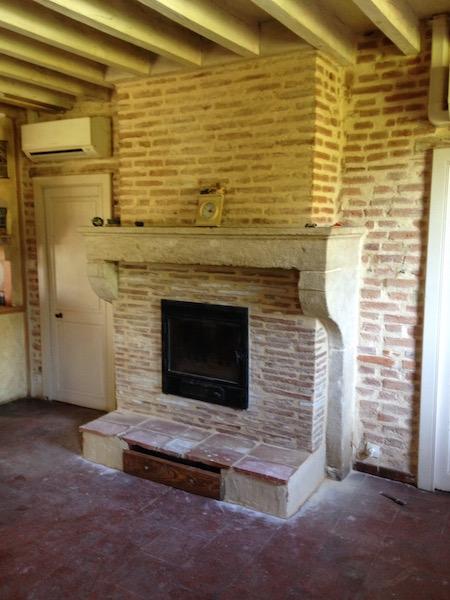 Réfection d'une cheminée ouverte