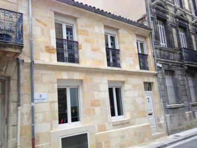 Façade pierres de taille a Bordeaux Gambetta